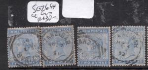 Zanzibar India Used SG Z667 X 4 Copies VFU (10dje)
