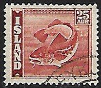 Iceland # 225 - Codfish - used....{GBl)
