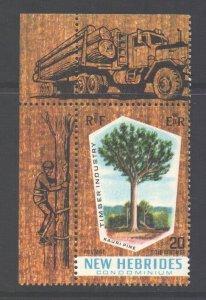 Vanuatu New Hebrides Scott 132 - SG135, 1969 Timber Industry 20c MNH**
