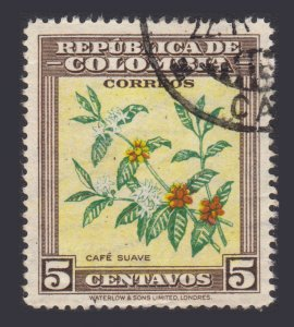 COLOMBIA 1947. STAMP SET. SCOTT # 545. USED