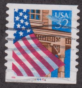 US #2915A Flag over Porch Used PNC Single plate #44444