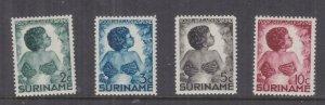 SURINAME, 1936 Child Welfare Fund set of 4, lhm.
