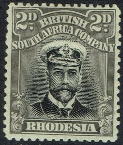 RHODESIA 1913 KGV ADMIRAL 2D DIE I PERF 14