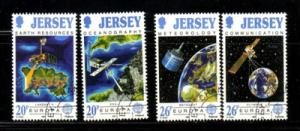 Jersey Sc 559-62 1991 Europa stamp set used