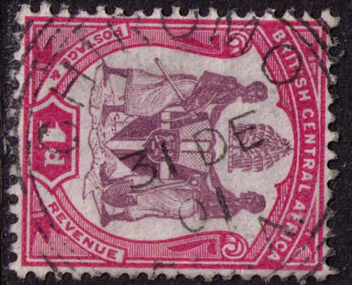 British Central Africa # 44 Used VF Chiromo Cat $ .80