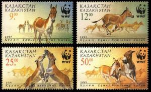 Kazakhstan WWF Kulan 4v SG#332-335 MI#345-348 SC#344-347