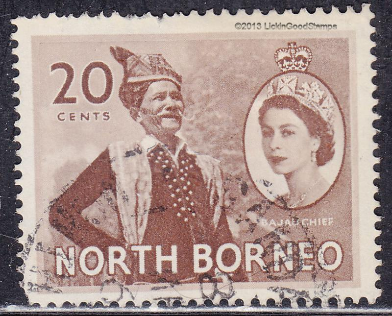 North Borneo 269 USED 1954 Bajau Chief