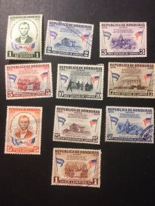 Honduras sc C289-C298 MHR+uhr