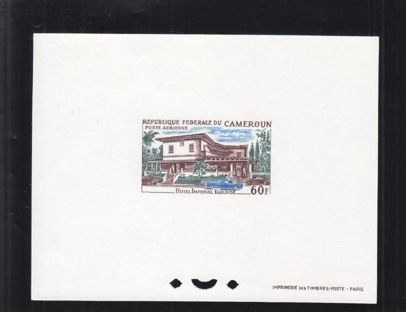 1966, Cameroun: Sc# C-66, Imperial Hotel, MNH, Die Proof (S14667)