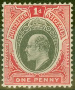 Southern Nigeria 1905 1d Grey-Black & Carmine SG22 Fine Mtd Mint