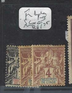 FRENCH INDIA (P2403B)  SC 1-3   MNG