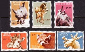 Belgium #B690-5 MH semipostal animals
