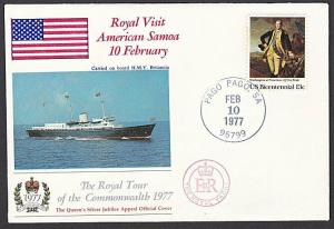 AMERICAN SAMOA 1977 Royal visit commem cover...............................57161