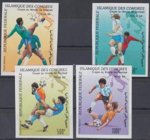 Comoroes stamp Football World Cup imperforated set 1990 Mi 935-938 WS111802