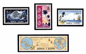 Samoa 365-68 MNH 1972 200th anniv of Jacob Roggeveens Exploration