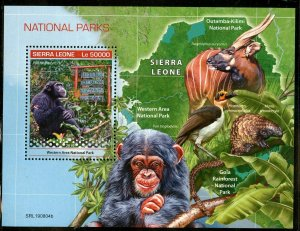 SIERRA  LEONE  2019 NATIONAL PARKS  SOUVENIR SHEET MINT NEVER HINGED