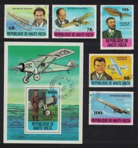 Upper Volta Aviation History 5v+MS 1978 CTO SG#475-MS480
