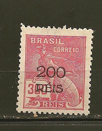 Brazil 376 Surcharged 1933 Mint No Gum