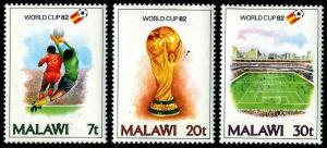 HERRICKSTAMP MALAWI Sc.# 402-04 Word Cup soccer FIFA
