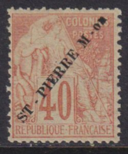 St. Pierre 1891 SC 33 Mint
