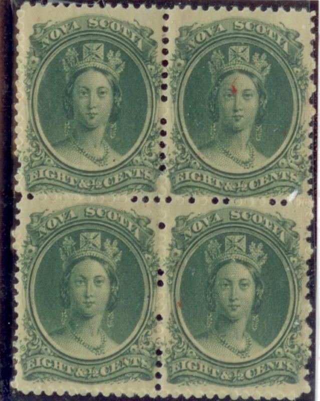 NOVA SCOTIA  #11i   MINT BLOCK    VF   NH