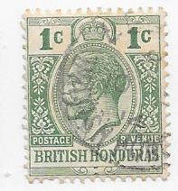 British Honduras #75 1c George V green (U)  CV $1.75