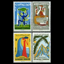 TUNISIA 1966 - Scott# 455-8 Mineral Water Set of 4 LH