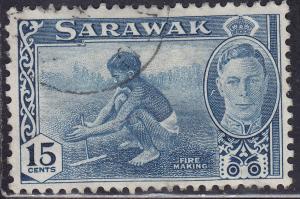 Sarawak 188 Hinged 1950 Fire Making