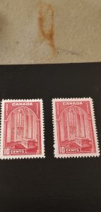 Canada Scott #241 and 241a MH