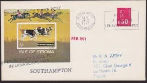 GB 1971 Post Office Strike mail cover to France.............................5453