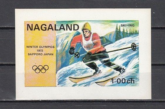 Nagaland, 1972 India Local. Sapporo Winter Olympics s/sheet.
