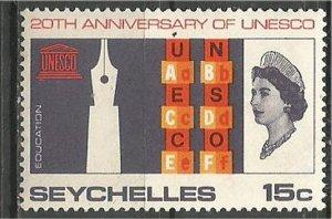 SEYCHELLES, 1966, MNH 15c,UNESCO Scott 230