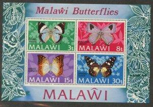 MALAWI Sc#202a 1973 Butterflies Souvenir Sheet OG Mint Hinged