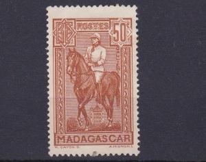 MADAGASCAR  1930 - 38   50C  RED BROWN    UNUSED  NO GUM