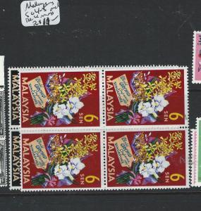 MALAYA MALAYSIA (P0803B) ORCHIDS SG 4-5  BL OF 4  MNH
