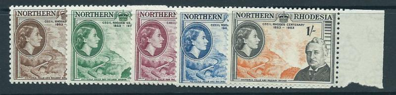 Northern Rhodesia  SG 54 - 58 set  Margin Copy MUH