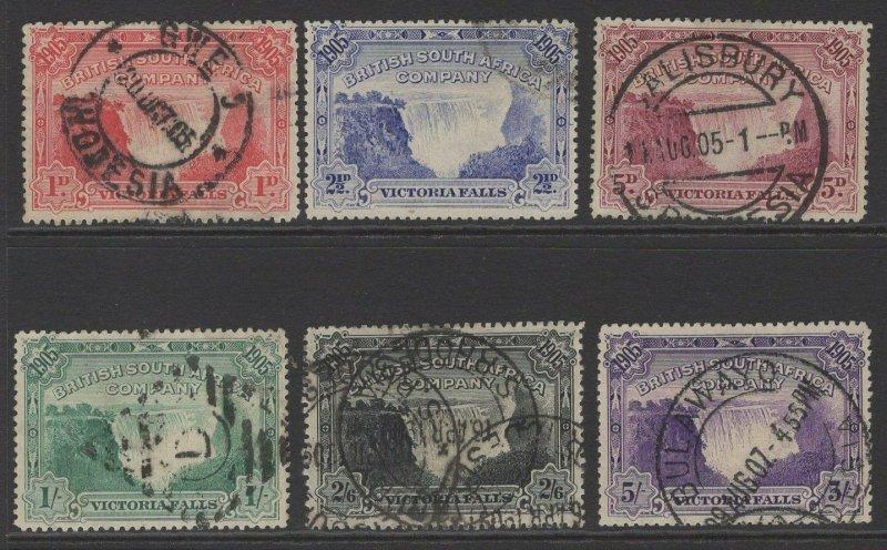 RHODESIA SG94/9 1905 VICTORIA FALLS BRIDGE USED