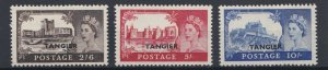 MOROCCO AGENCIES TANGIER  1955  S G 310 - 312  2/6 TO 10/-  MNH
