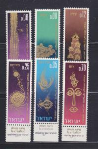 Israel 298-303 With Tabs Set MNH Jewish New Year (E)