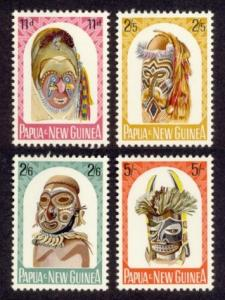 Papua New Guinea Sc# 178-81 MNH Carved Heads
