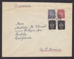 Portugal Sc 615-617 on 1946 Cover, FUNCHAL to BERKELEY, CA