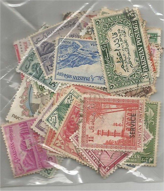 PAKISTAN, Classic pack of more than 50 mix used. (all different)