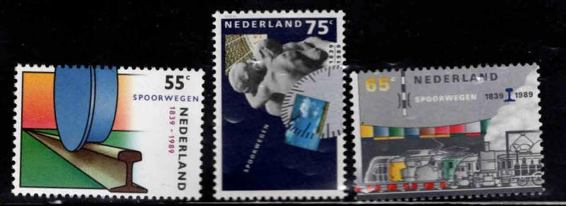 Netherlands Scott 746-748 MNH** 1989 Dutch railway set