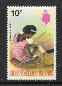 GILBERT & ELLICE IS. SG180w 1972 10c WMK INVERTED MNH