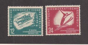 GERMANY - DDR SC# 76-7 F-VF MNH 1950