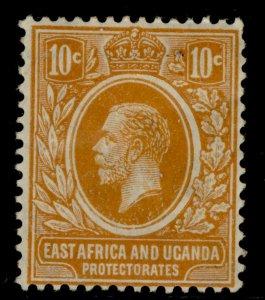 EAST AFRICA and UGANDA GV SG47, 10c yellow-orange, M MINT.