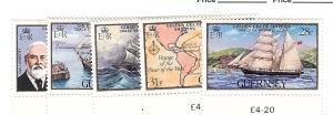 Guernsey, 269-73, Ships Singles, MNH