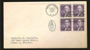 USA 1177 Horace Greeley 1961 Block of 4 First Day Cover