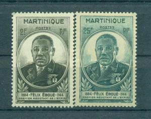 Martinique sc# 196-197 mh cat value $2.15