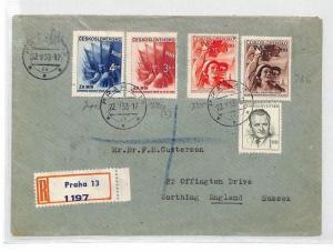 BU77 1953 Czechoslovakia Prague Airmail Cover PTS